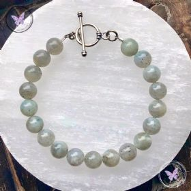 Labradorite Healing Bracelet With Silver Toggle Clasp